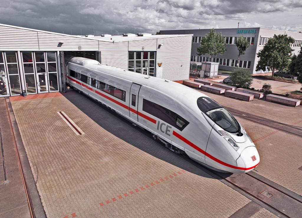 Siemens high-speed Velaro D train at the testing center in Wegberg-Wildenrath (PCW)