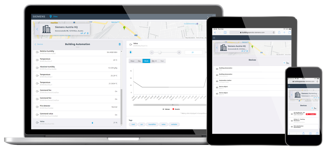 Building Operator is available across multiple devices. This allow to use Building Operator in mobility.