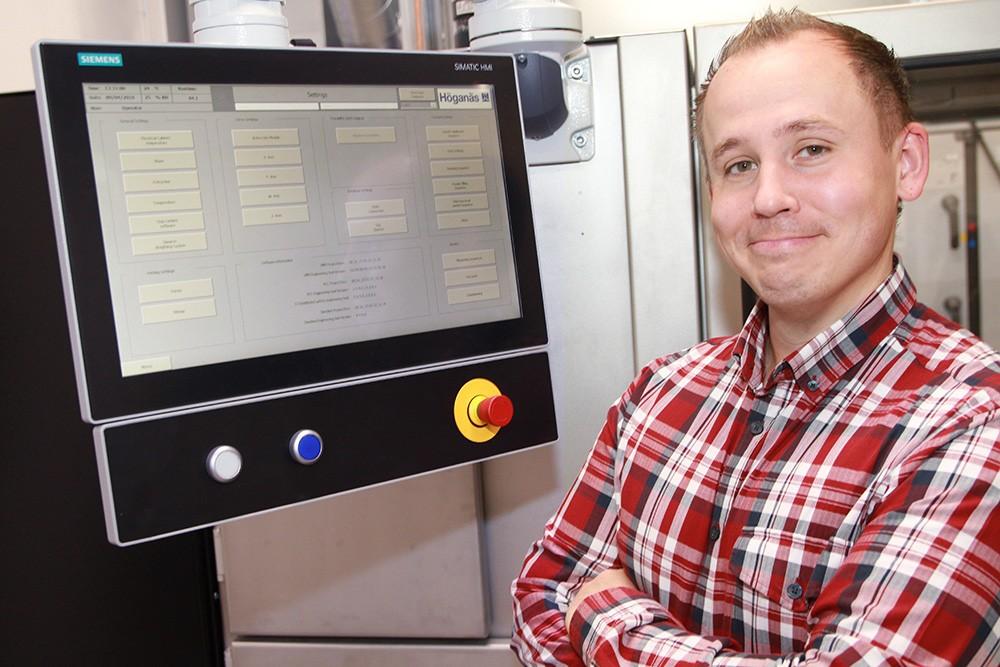 Patrik Zettervall, automationsingenjör på Elbe Automatic