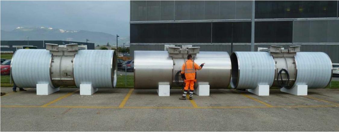 Drei Strahlventilatoren für den Ceneri Basistunnel