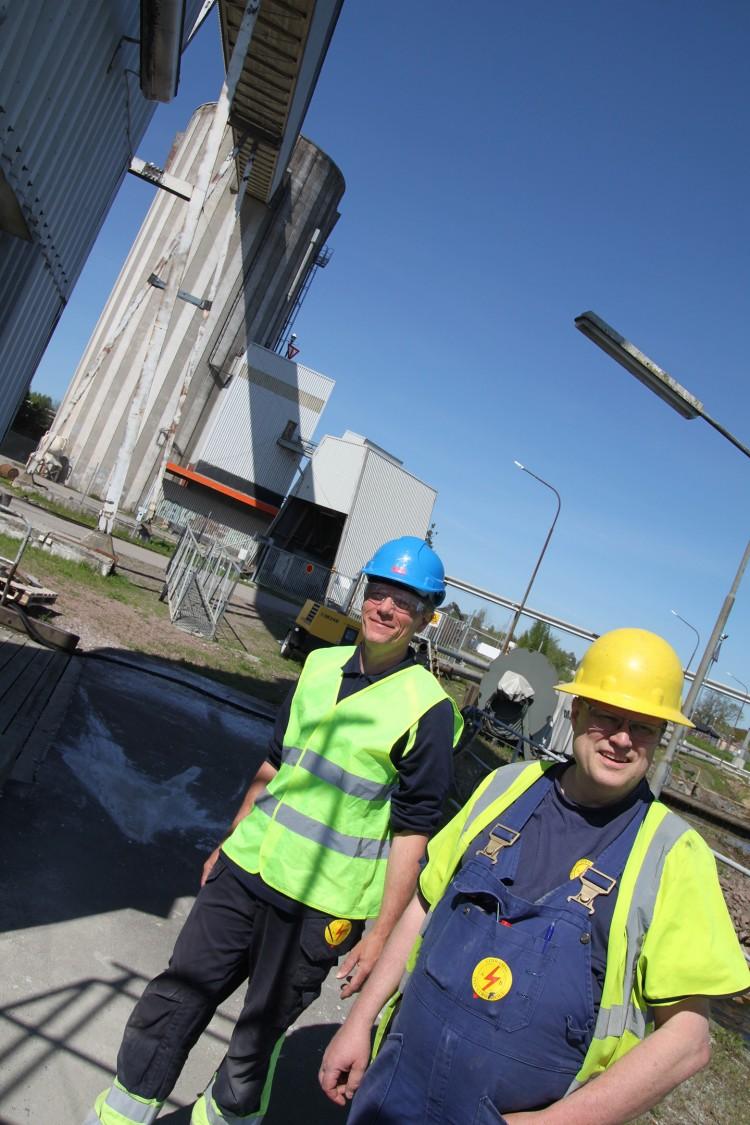 Parhästar som har följts åt i yrkeslivet: Christopher Elg, konstruktör, och Tomas Knutsson, vd och ägare av Limhamns Industriservice.
