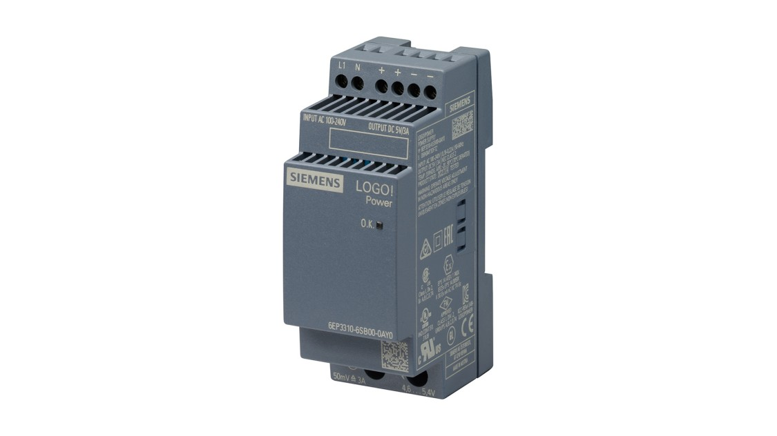Product image LOGO!Power, 1-phase, 5 V/3 A