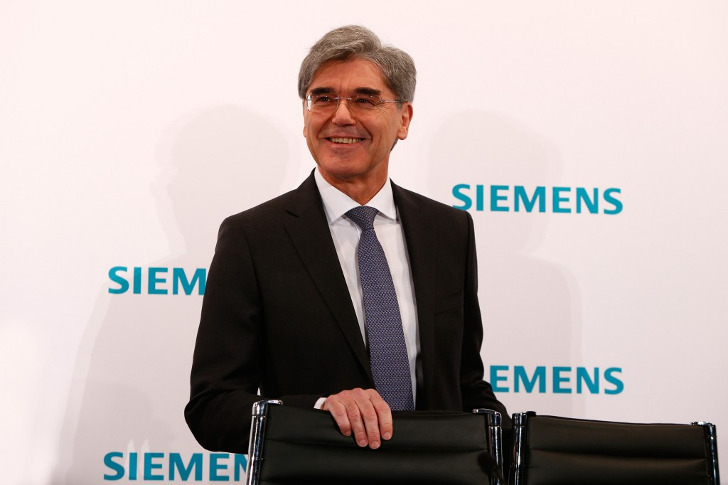 Joe Kaeser, President and Chief Executive Officer of Siemens AG, at the press conference held to announce the figures for the first quarter of fiscal 2017