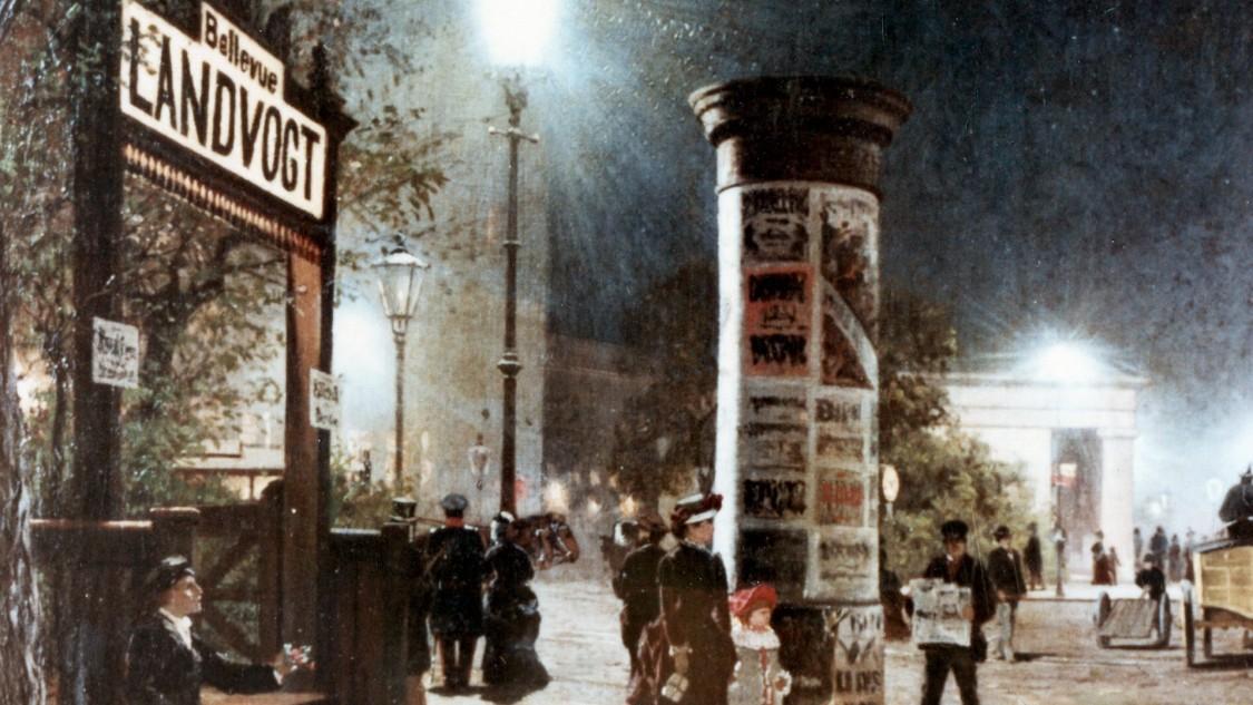 Уличное освещение в Берлине, 1882 год