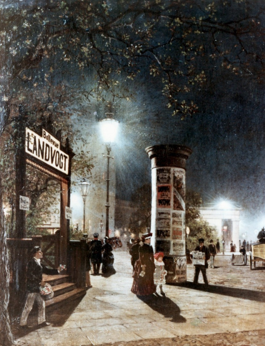 Street lighting on Potsdamer Platz, Berlin, 1882