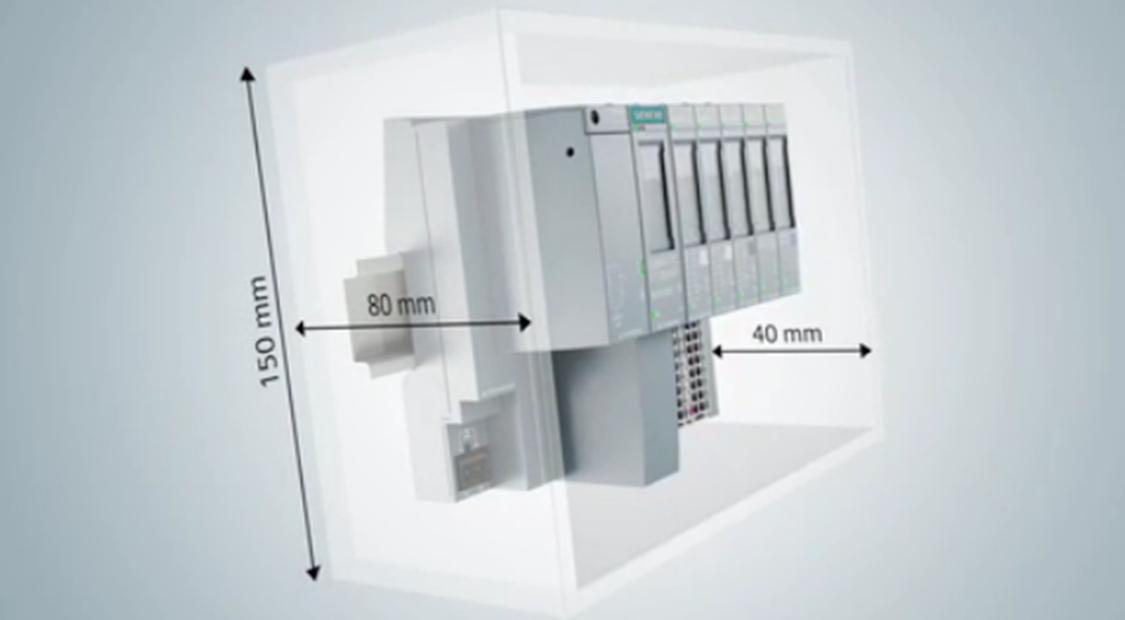 SIMATIC ET 200の効果的な設置面積