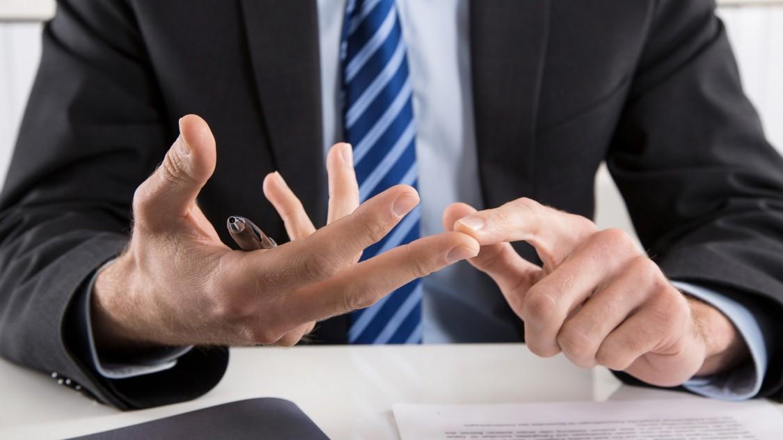 finance professional explaining the options
