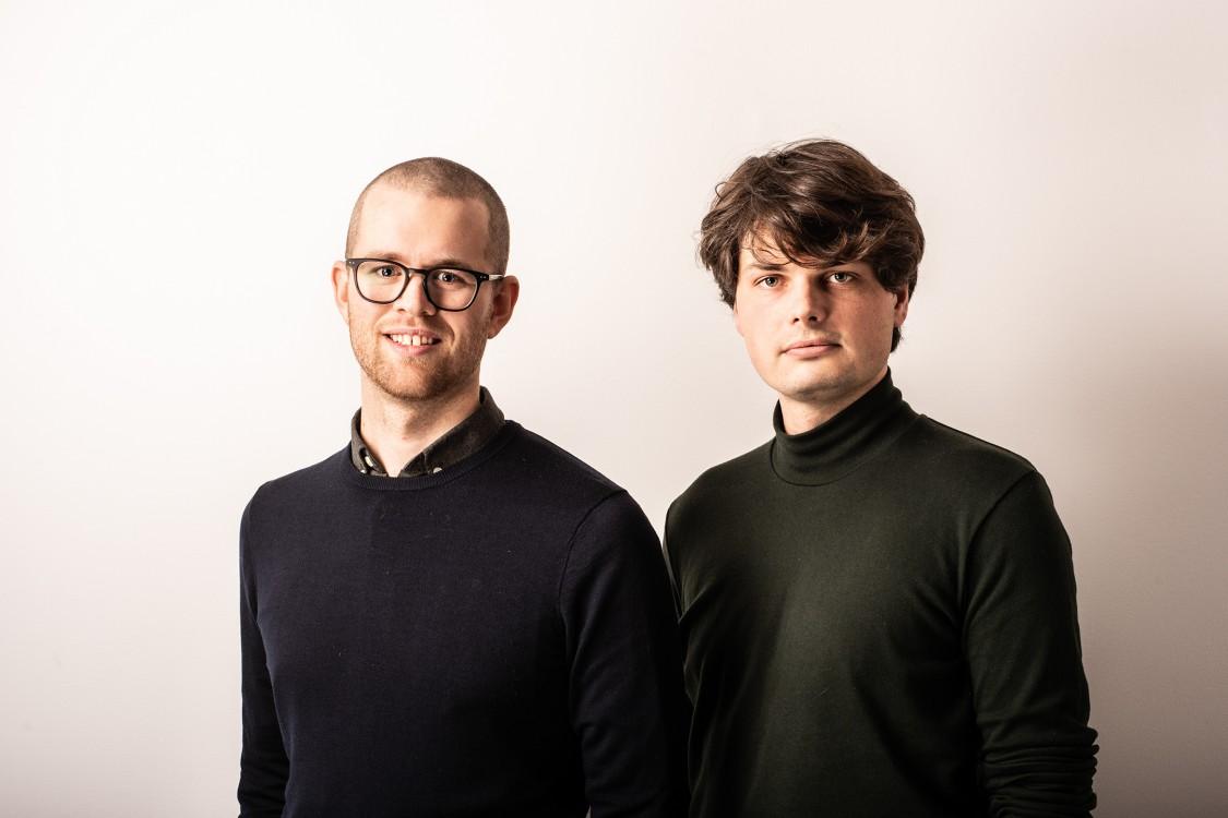 Simon Granath och Victor Pelin, utvecklingsingenjörer på VA Syd.