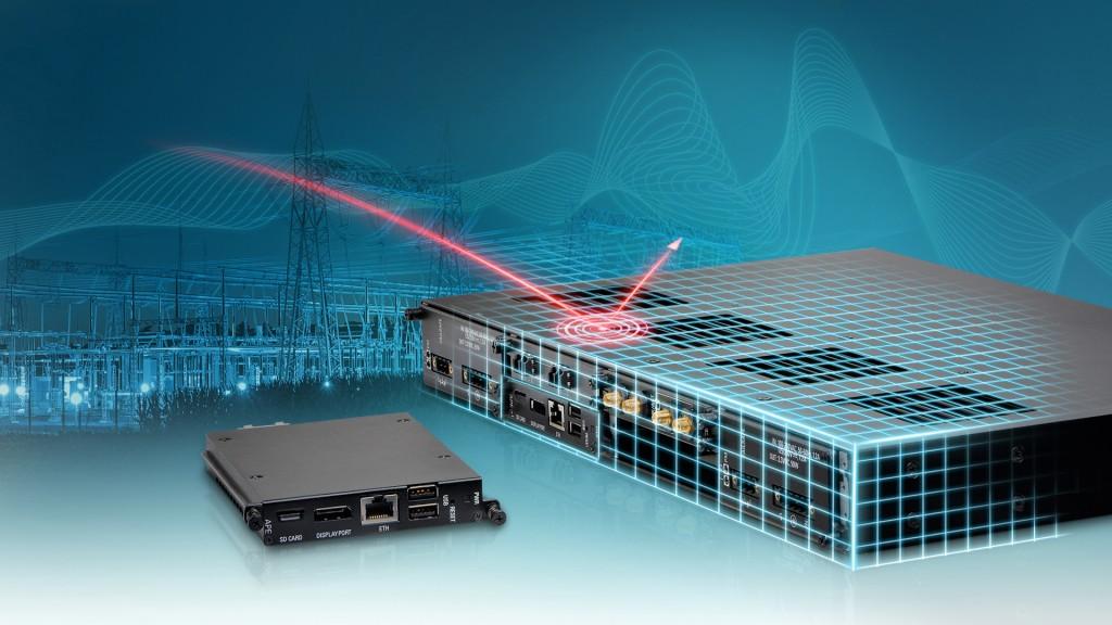 Das Bild zeigt die Ruggedcom APE1808 Multiservice-Plattform