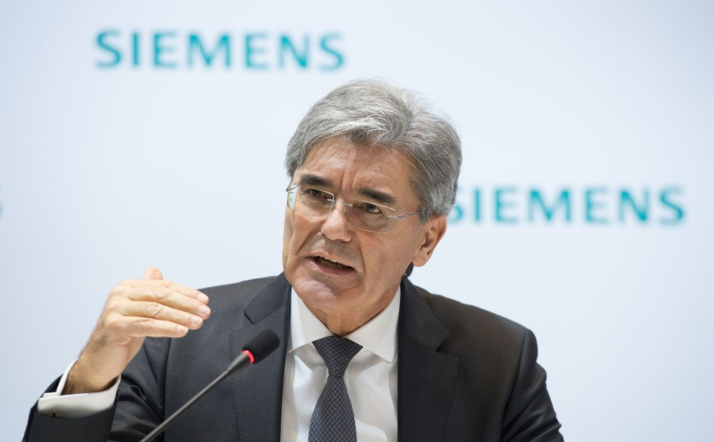 Siemens Annual Press Conference 2016 in Munich, Germany: Joe Kaeser, President and Chief Executive Officer Siemens AG.