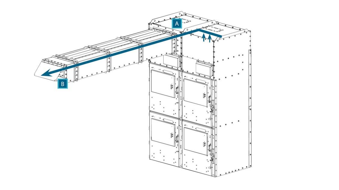 Arc venting for SIMOVAC-AR arc-resistant medium-voltage motor controller