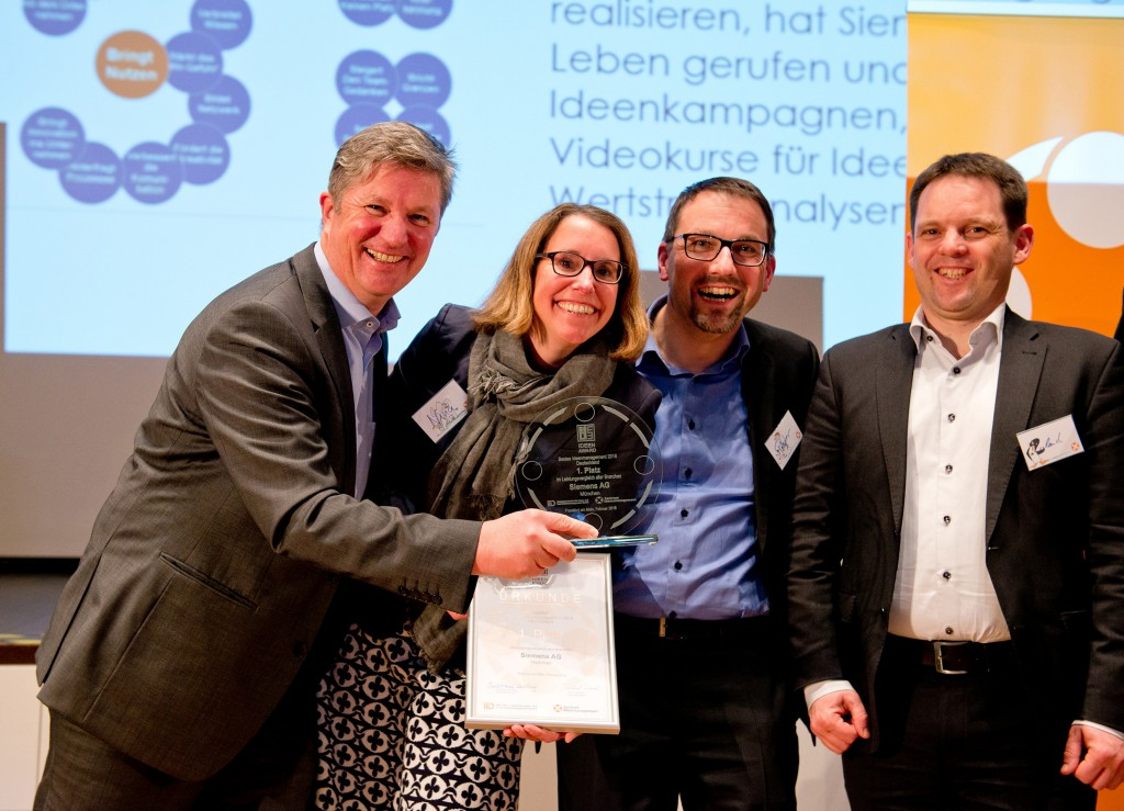 "Siemens wins first place for ""Best Idea Management"""