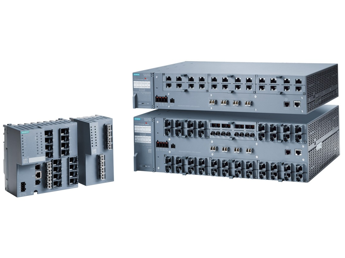 Portfolio průmyslových ethernetových přepínačů (switchů) SCALANCE X