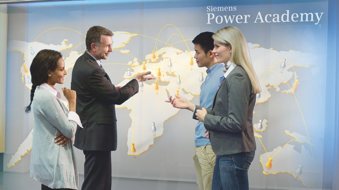 Training by Siemens Power Academy for the Energy Sector