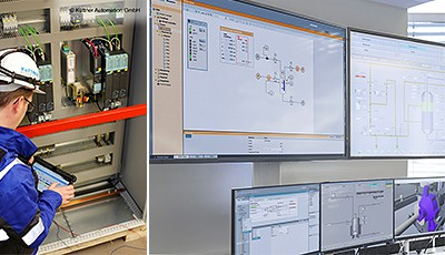 Both the Simit simulation software and the latest V9 version of the proven Simatic PCS 7 process control system is used in the steel works.