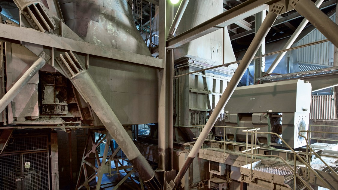 Interior view of Hanson cement
