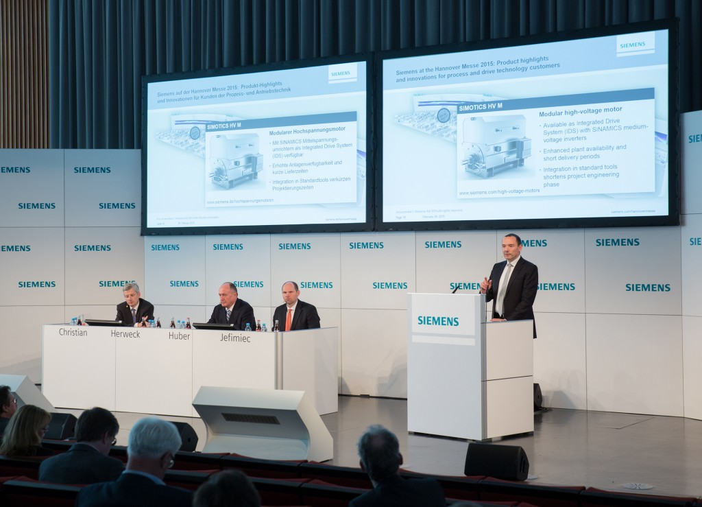 Press conference ahead of the Hannover Messe 2015