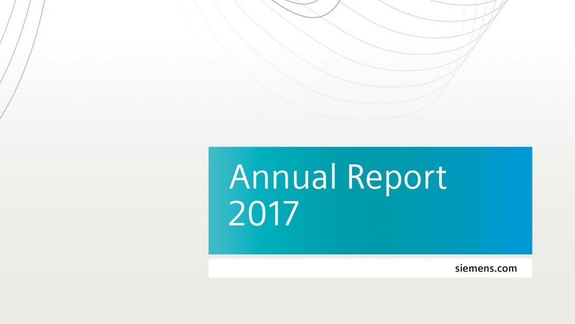 Siemens Annual Report 2017