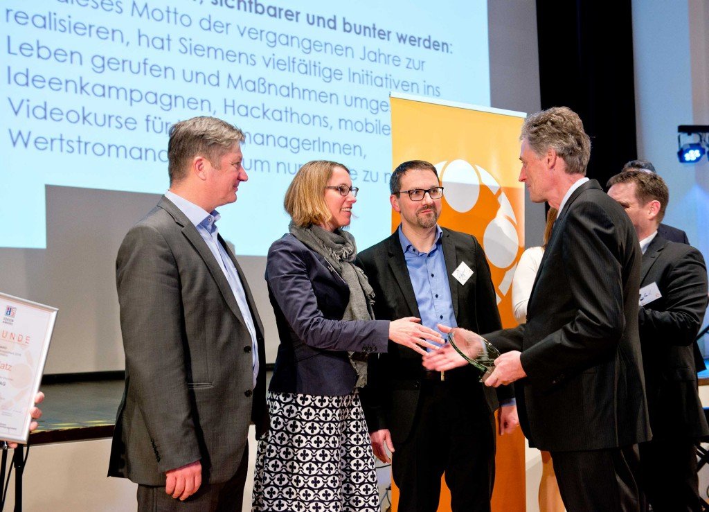 """Siemens gewinnt ersten Platz für """"Bestes Ideenmanagement"""""""