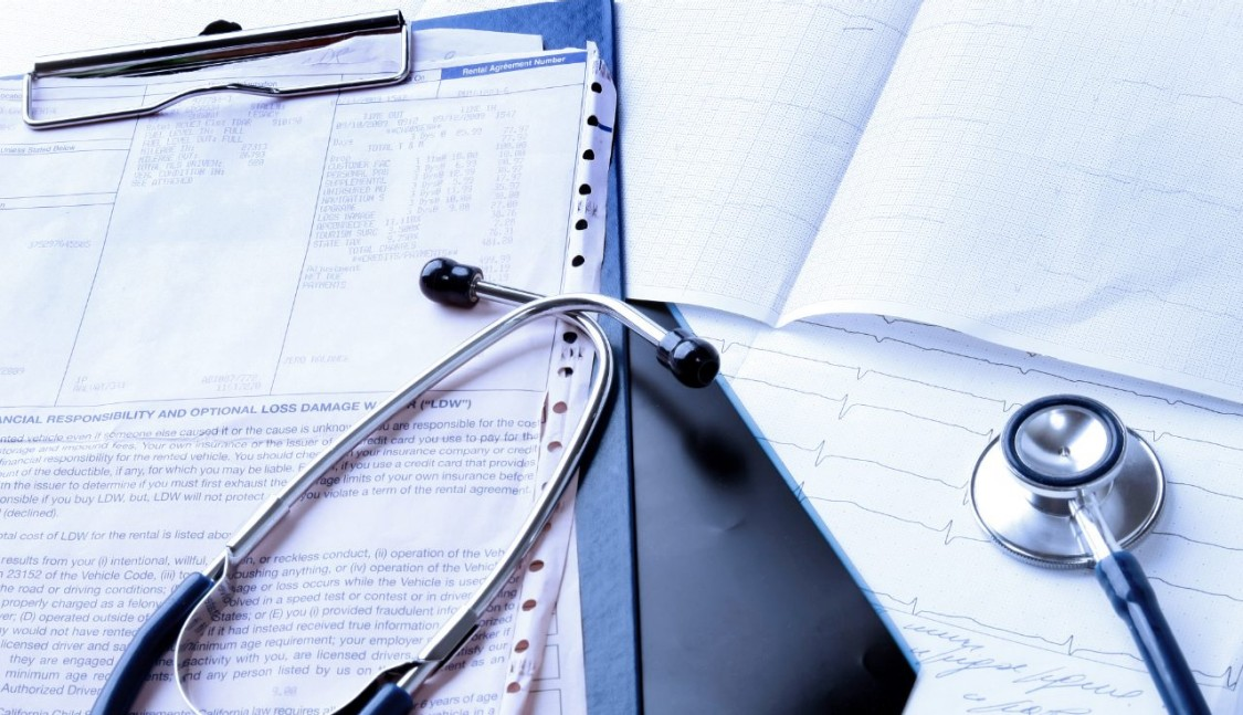 Stethoscope & clipboard with results