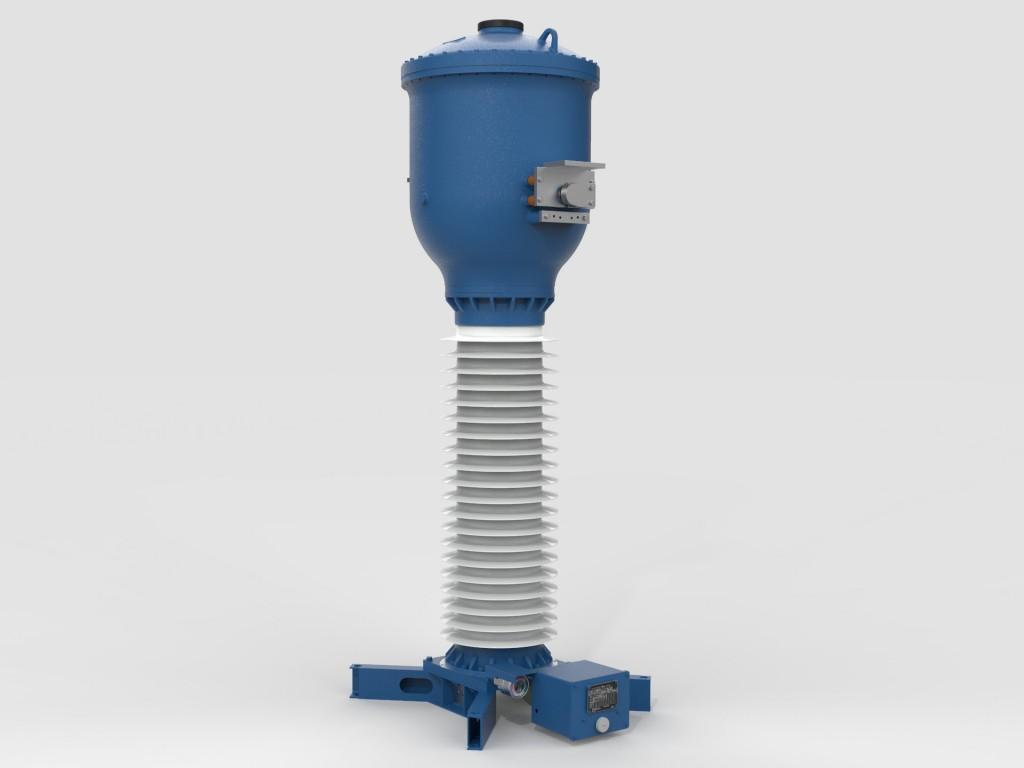 """Das Bild zeigt einen 145 kV Stromwandler aus dem """"Blue""""-Portfolio"""