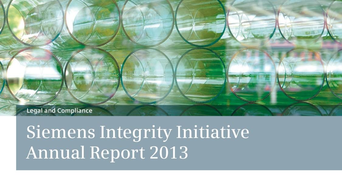 Siemens Integrity Report 2013