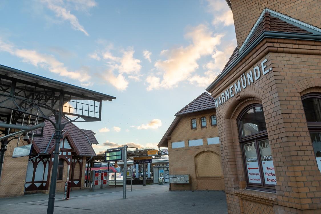 Bahnhofsgebäude in Warnemünde