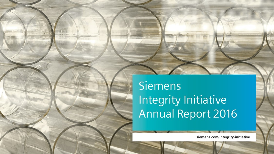Siemens Integrity Initiative – Annual Report 2016