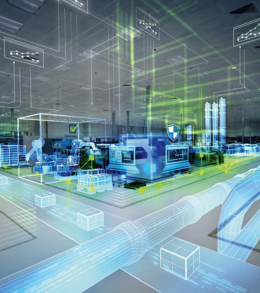 Manufacturing floor with digital layer