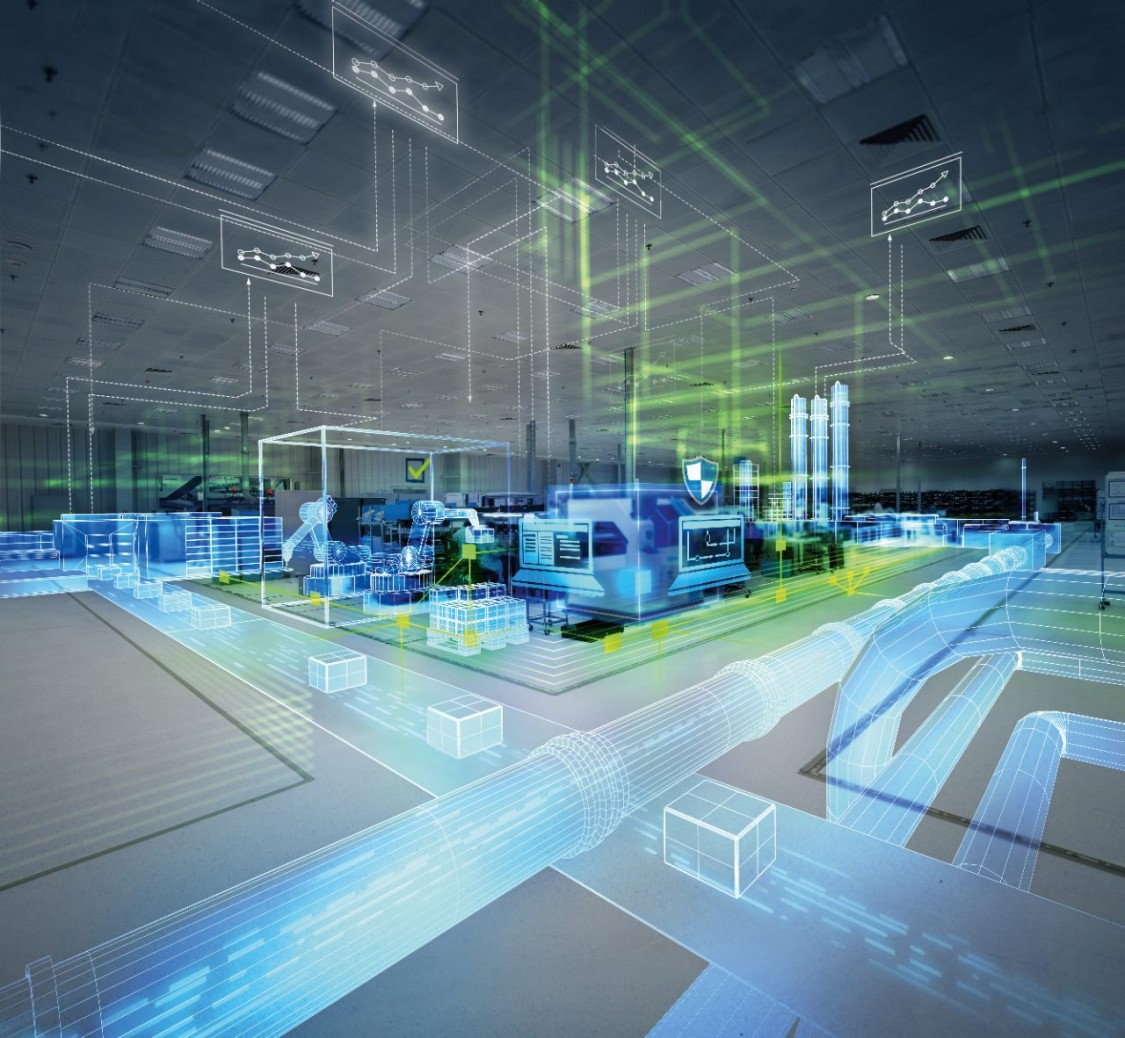 digital rendering of Siemens Totally Integrated Automation portal