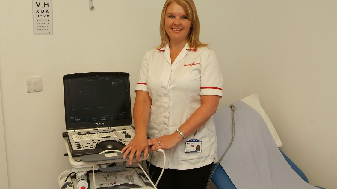 lady with echo machine financed by Siemens Financial Services