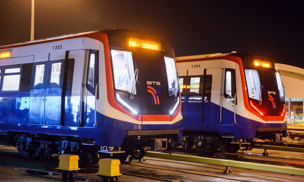 New metro trains now running on Bangkok's BTS Skytrain System