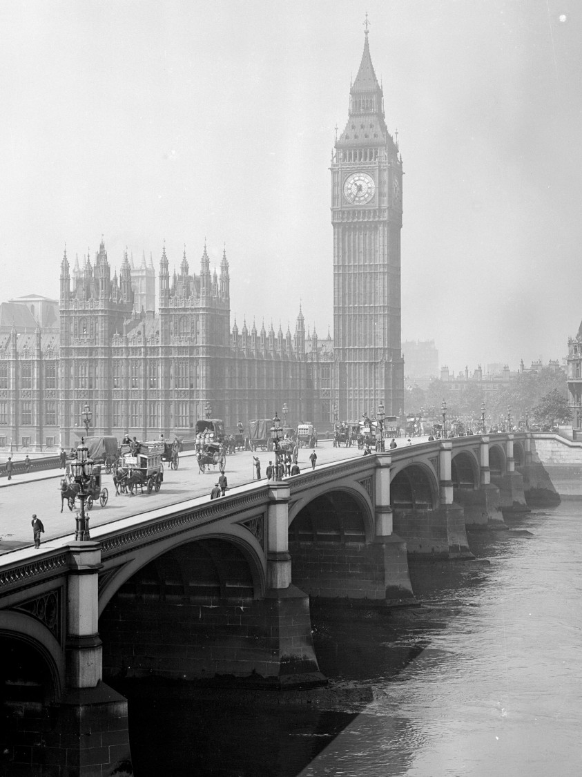 Westminster and Big Ben, London 1881