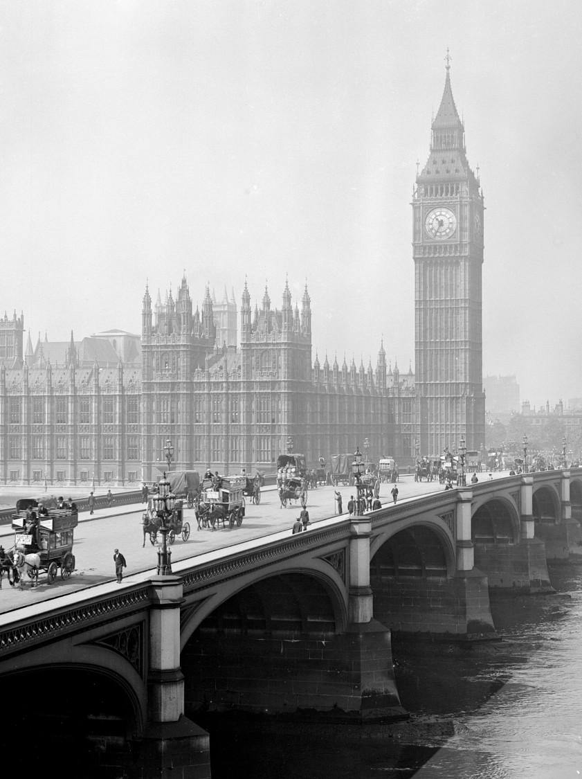 Westminster und Big Ben, London 1881
