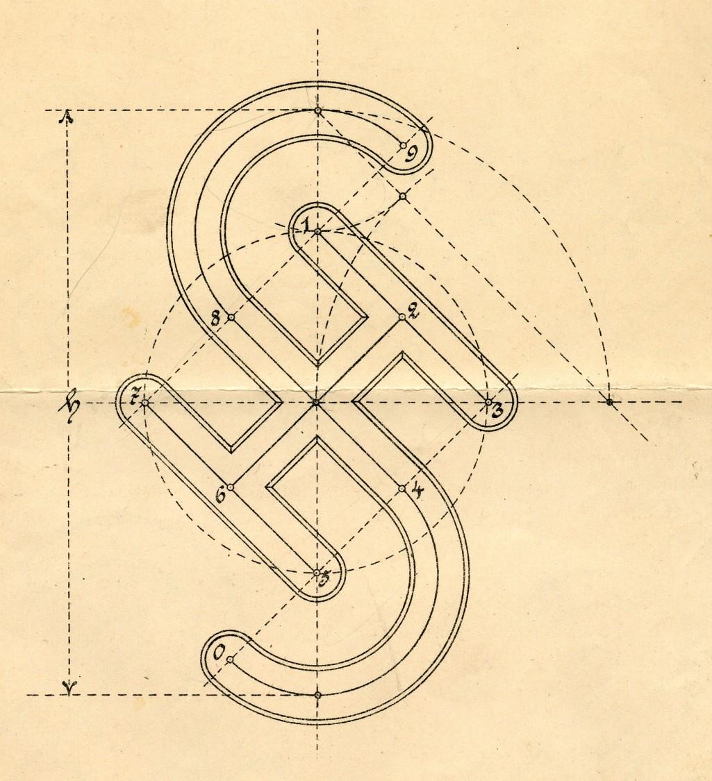 Als Siegerentwurf gekürt – Warenzeichenvorschlag des Charlottenburger Werkes