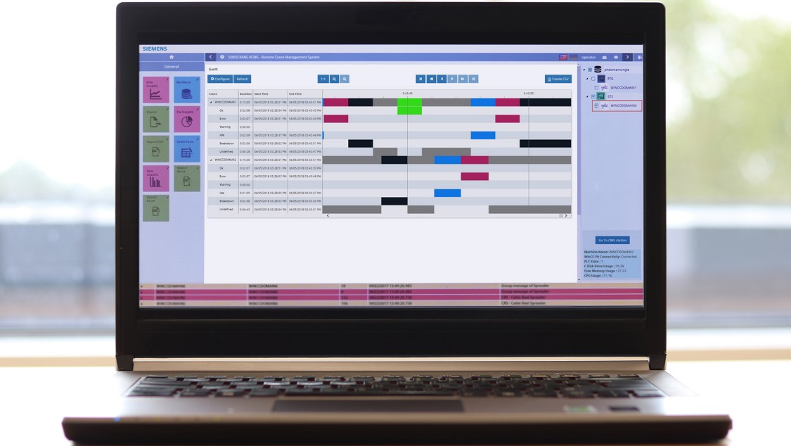laptop with the RCMS user interface on the screen