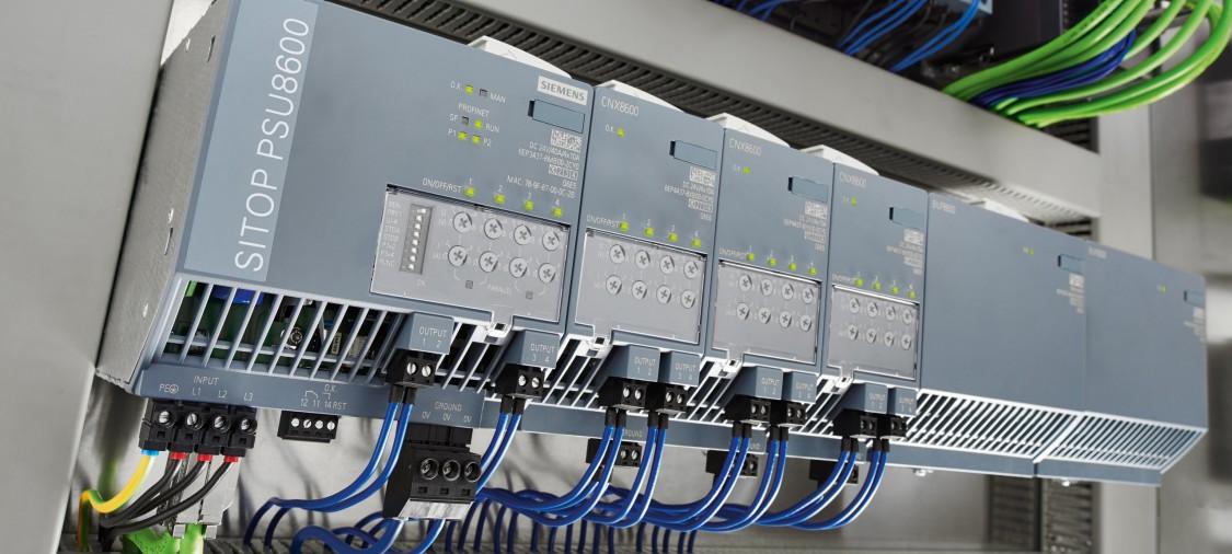 SITOP PSU8600 - модульна система електропостачання з вбудованим Ethernet / PROFINET інтерфейсом