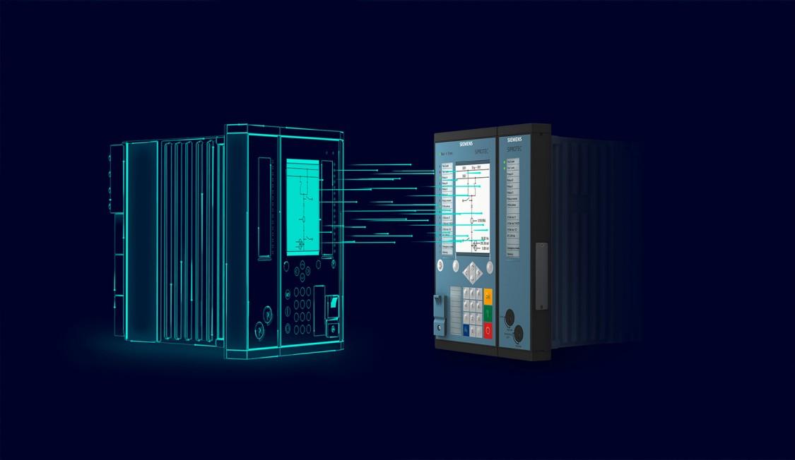 Digitale tweeling van Siemens SIPROTEC 5