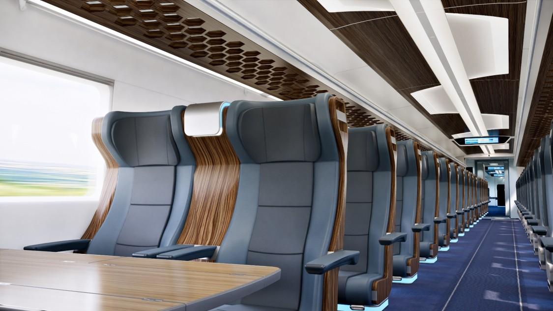 Wageninnenraum mit großzügigen Sitzen ausgestattet