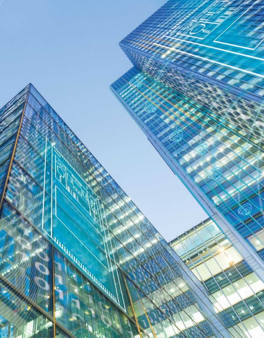 Fire Resources for Engineers - picture of glass buildings with digital layer