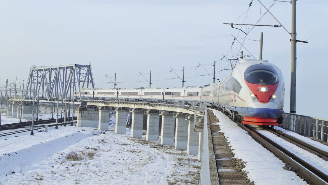 An image of the Velaro Russia in St. Petersburg, Russia – which offers 99 percent train availability despite tough environmental conditions