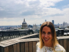Amelia Donaldson, Siemens plc with London in the background