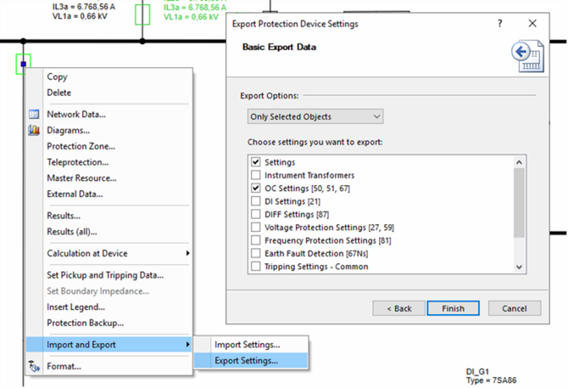 Scenario Support for Protection Settings