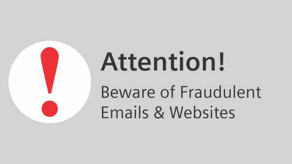 Beware of Fraudulent Emails and Websites
