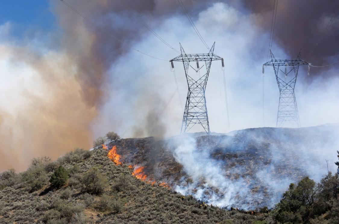wildfire impact near homes
