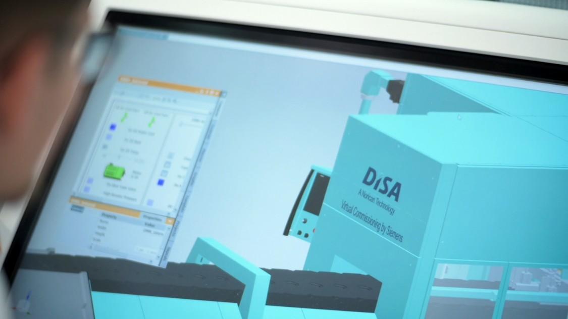 Der dänische Maschinenbauer DISA nutzt die virtuelle Inbetriebnahme