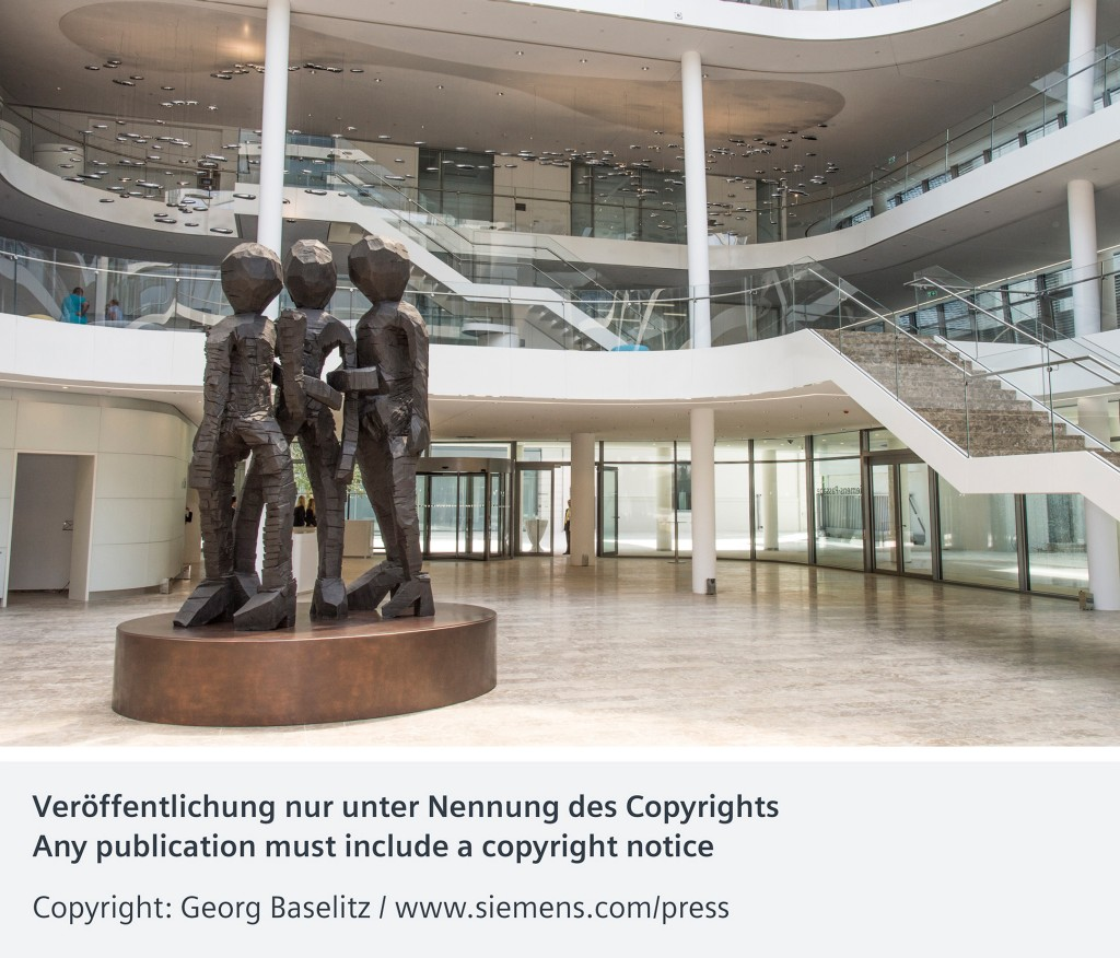 "Bronze sculpture ""Schwesterngruppe"" inaugurated at the new Siemens Headquarters"