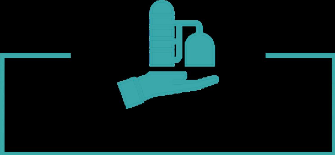 Piktogramm von ganzheitlichem Anlagenmanagement des Digital Enterprise in der Prozessindustrie