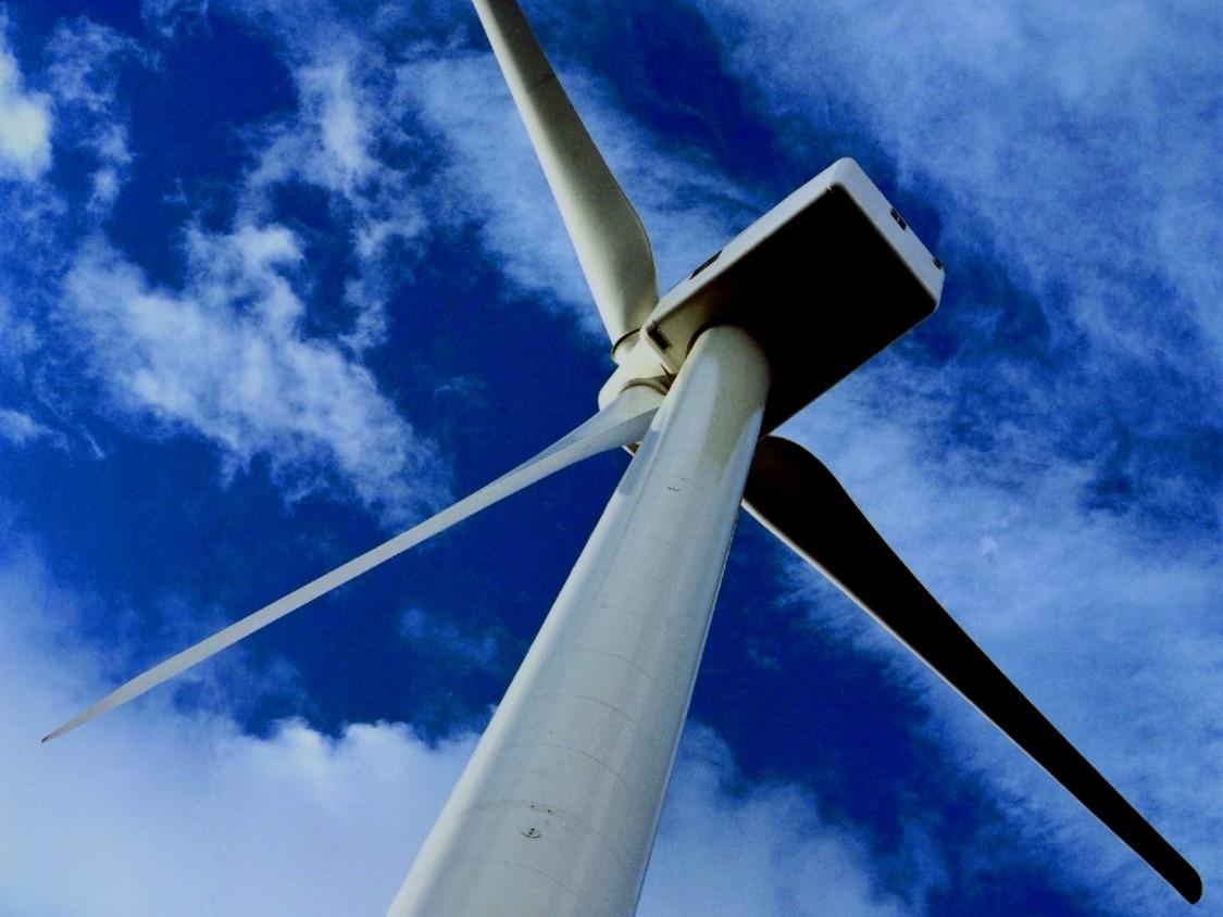 Eine Windturbine