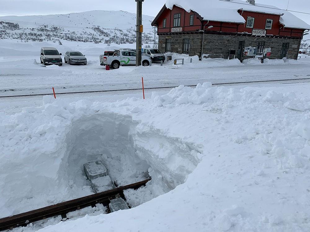 ITS710 Weichenstellsystem in Norwegen unter extremen Wetterbedingungen im Einsatz